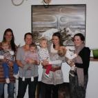 Eve + Flynn, Alicia + Lexie, Larni + Poppy, Melissa + Luka