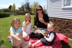 My sister Janelle, and nieces - Nina, Molly & Jessica