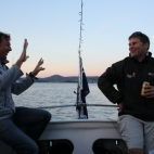 Nicko & James (no doubt discussing tactics!)