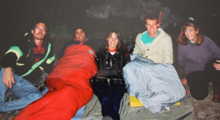 Camping on an airstrip