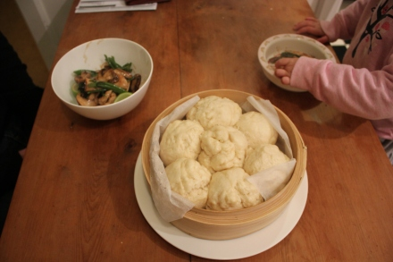 Chicken Stir Fry with Coconut Buns