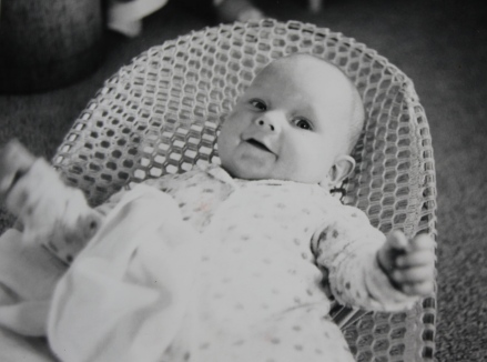 Nick as a baby