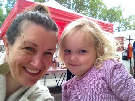 Mum & Poppy at Salamanca Market