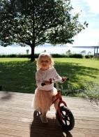 Ballerina on her bike