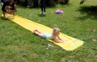 Water slide action