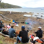 BBQ at Aitkens - Bruny Island