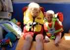 Not too happy in their PFD's