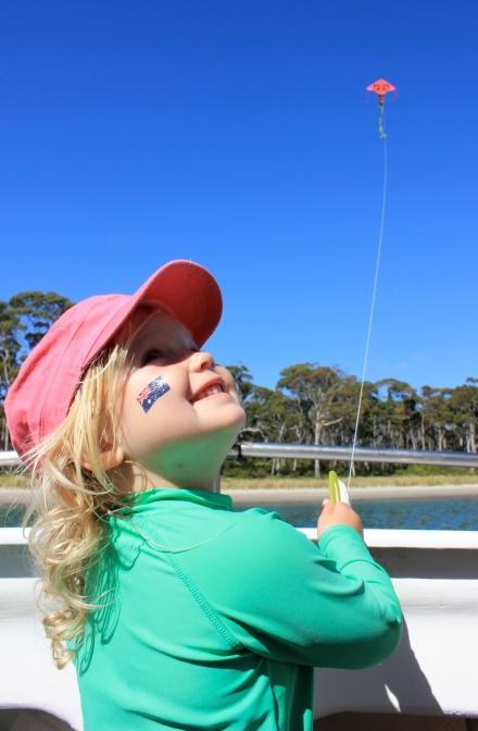 Poppy flying her kite