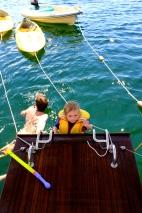 Swimming off Mistraal