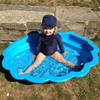 Poppy in her paddling pool