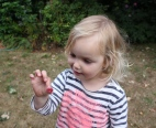 Poppy eating mulberries