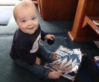 James reading Yachting World