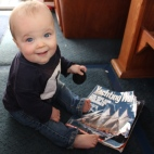James reading Yachting World