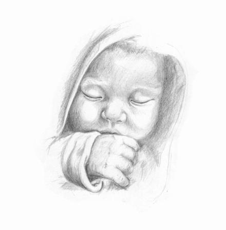 Baby Sleeping by Martin-Lyne