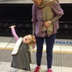 Catching Poppy's first train