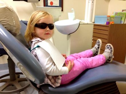 Poppy at the dentist