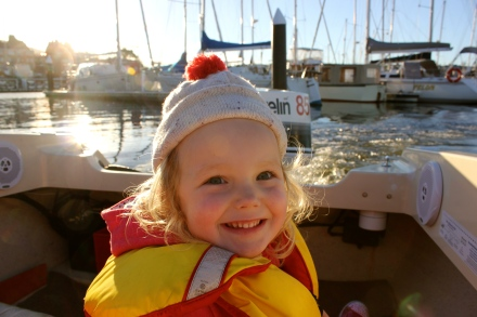 Poppy in her speedy boat