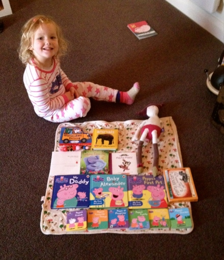 Poppy and her book picnic