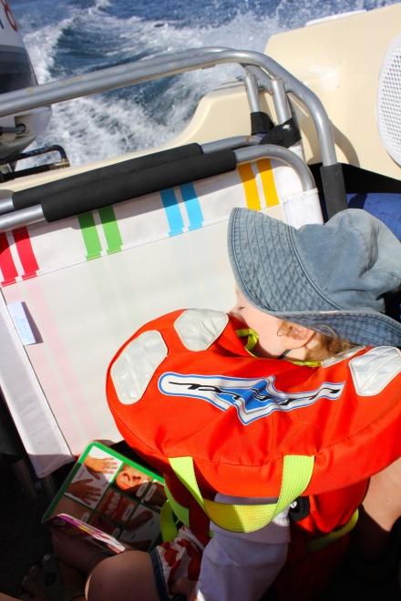 Sleeping in the speedy boat