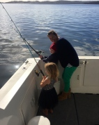 James' first fishing lesson