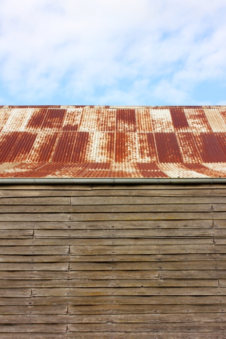 Rusy corrugated iron