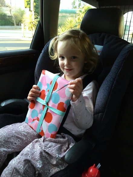 Poppy with her present