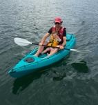 The boys kayaking at Fancy Bay