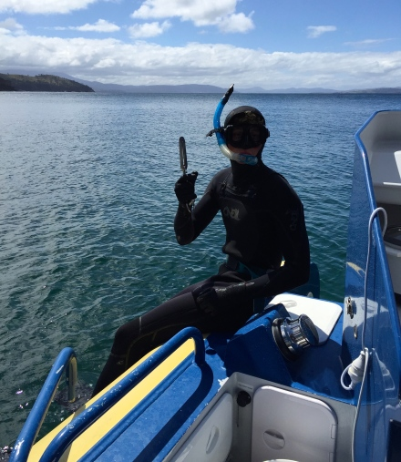 Ido diving at One Tree Point