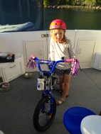 Poppy and her new bike!