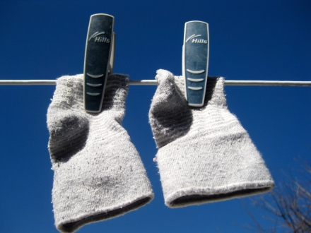 Washing Little Socks