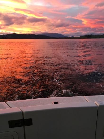 Sunset in Barnes Bay