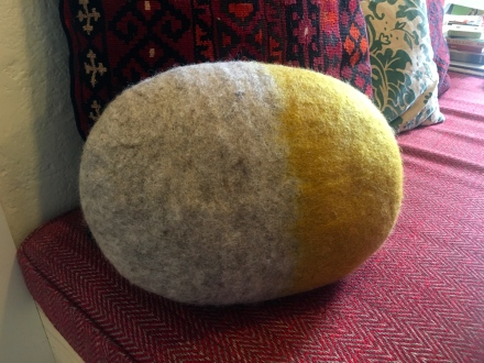 Grey & Felt Cushion